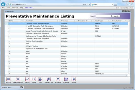 fleet maintenance schedule template vehicle preventive maintenance template excel http www