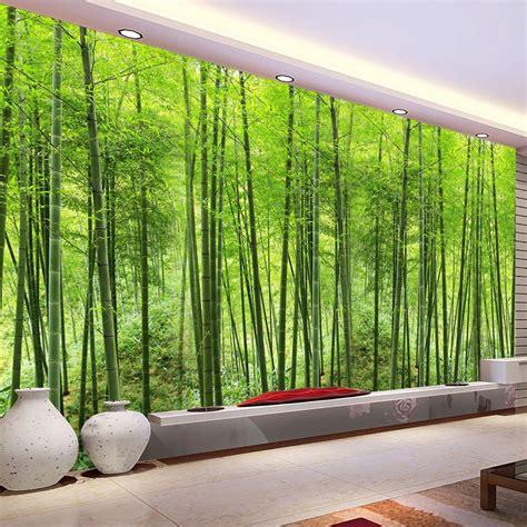 buy custom photo wallpaper bamboo forest