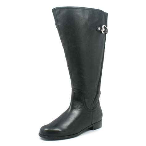 wide calf boots petals trudy 2 wide calf black leather r
