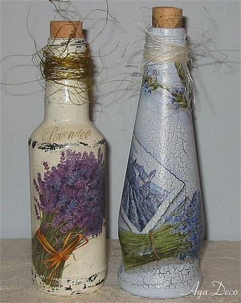 Decoupage Bottle Ideas - decoupage bottles lavender decoupaged furniture and