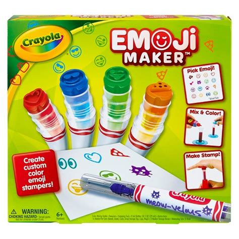 emoji design maker crayola 174 emoji maker marker kit target