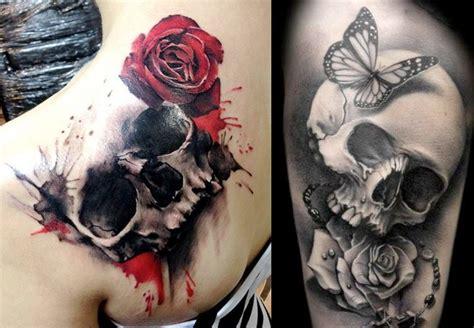imagenes de tatuajes de una calabera tatuajes de calaveras y craneos dise 241 os y significados