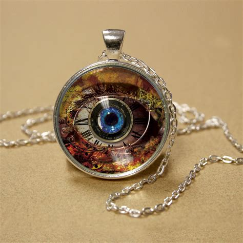 steunk jewelry 1 eye glass pendant silver 28 images carved metal the