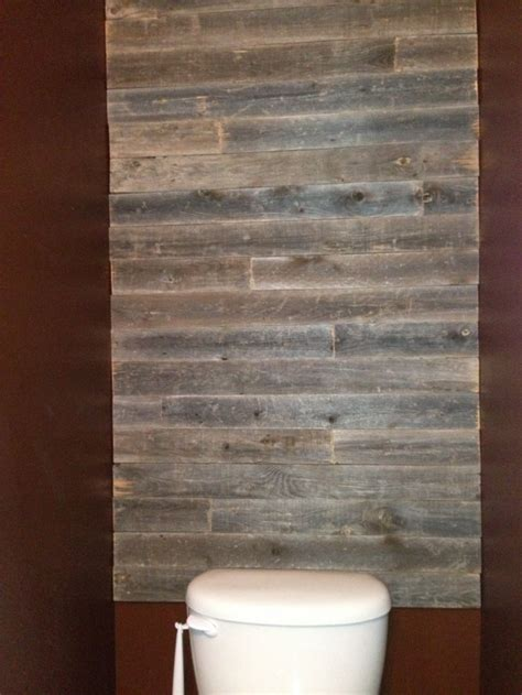 Barn Wood Bathroom Barn Wood Bathroom Wall My Bathroom Renovation Pinterest