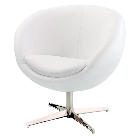 White Chairs by Best Selling Home Decor Modern White Leather Roundback