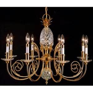 Quoizel Brass And Crystal Large Pineapple Chandelier   $500.00