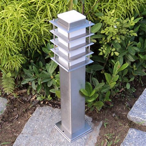 110v Landscape Lighting 110v 220v 12v 24v Landscape Lawn Sward Garden Stainless Outdoor Garden Lawn Square Pillar Post