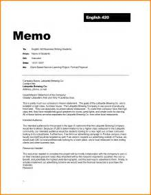 Memo Layout Exle 8 Formal Memo Format Newborneatingchart
