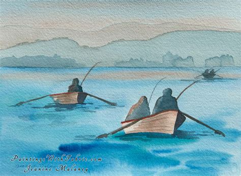 boat paint vancouver tyee fishing watercolor painting
