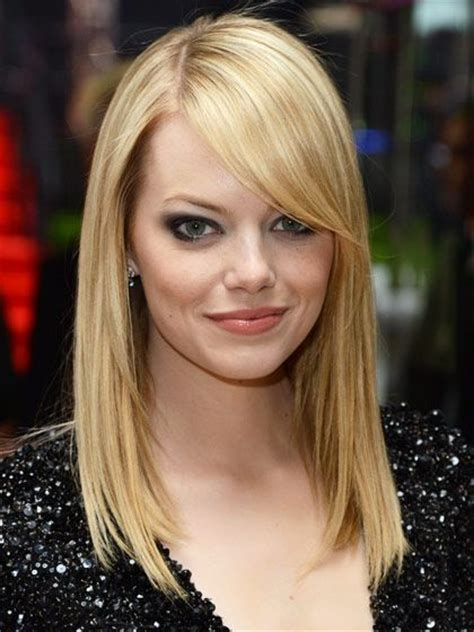 hairstyles for straight hair with side bangs fine straight long hair with side swept bangs hair