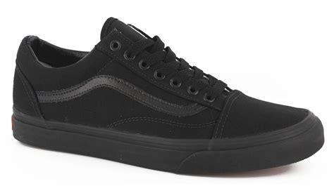 vans skool skate shoes black black canvas view large