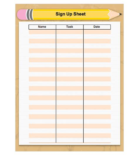 back to school sign in sheet template back to school sign up sheet preschool
