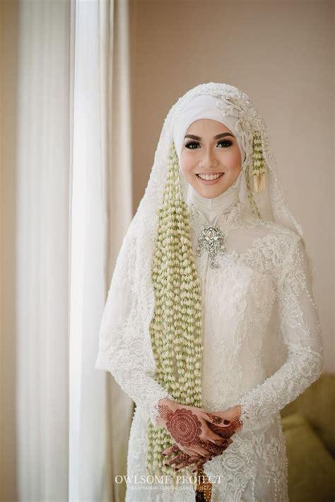 Baju Akad Nikah Berhijab 20 inspirasi model kebaya putih untuk akad nikah demi penilan yang anggun dan megah