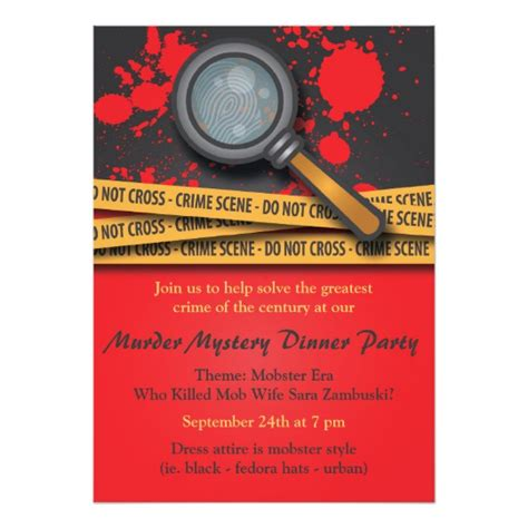 template murder mystery card murder mystery dinner invitation zazzle