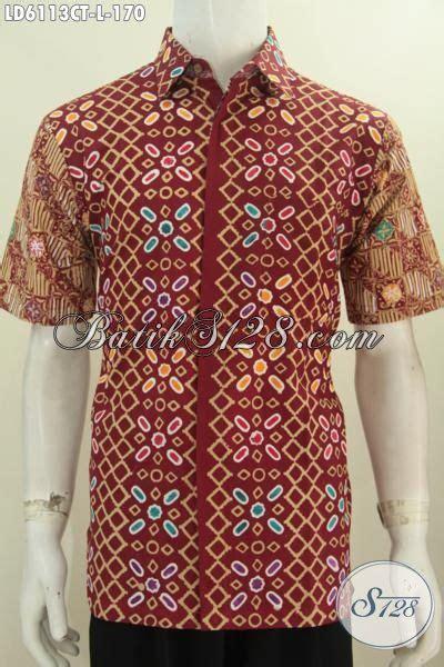 Baju Wafer Ukuran L baju batik kemeja ukuran l hem batik modis halus warna
