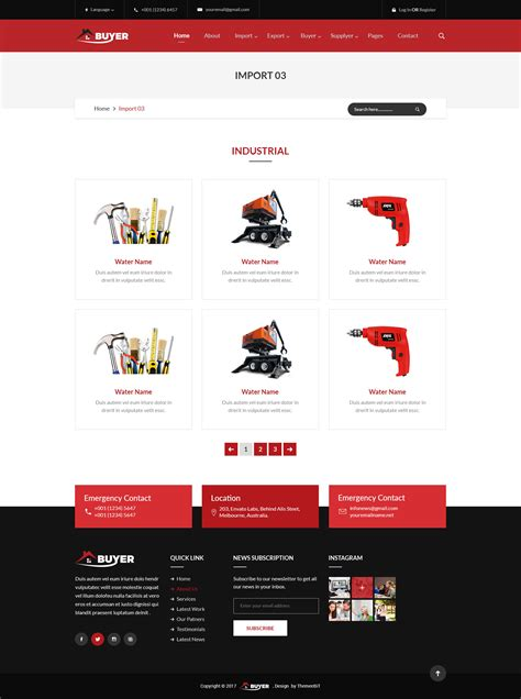 import pattern psd buyer export import business psd template by themeebit