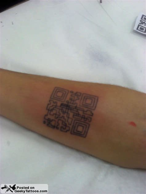 qr code tattoo geeky tattoos part 15
