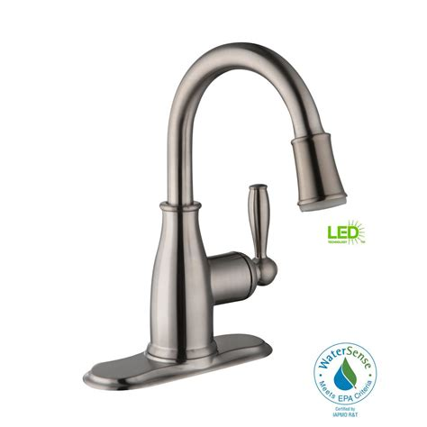 Glacier Bay Mandouri 4 In Centerset Single Handle Led Led Bathroom Faucet
