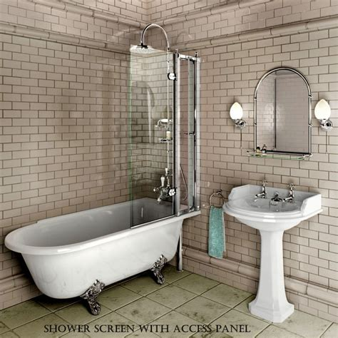 ended bath with shower burlington hton traditional shower bath uk bathrooms