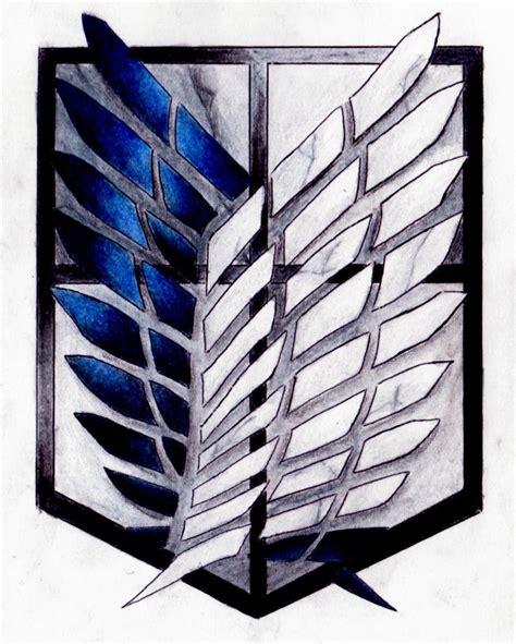 Kaos Scouting Legion Attack On Titan Wings Anime attack on titan scouting legion emblem by lynda2384 on