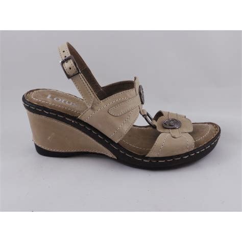 beige wedge sandal lotus azul beige open toe wedge sandal lotus from