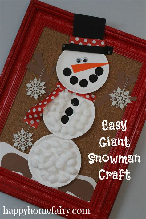 snowman craft projects easy snowman craft happy home