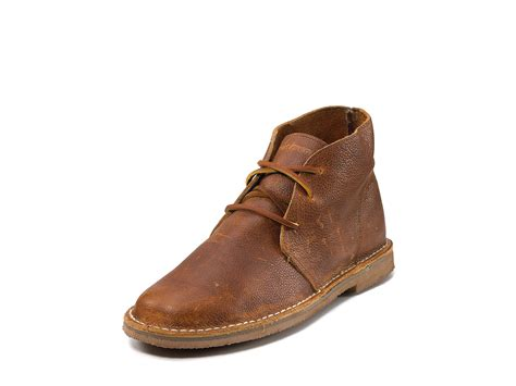 seavees leather 3 eye chukka boot in brown for brass