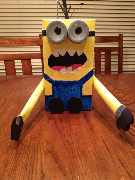 how to make a minion valentines day box diy minion valentines box minions despicable me 1