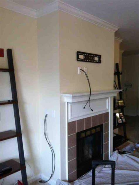 Mount Tv Above Fireplace Hide Wires by Fireplaces Hide Wires And The Fireplace On