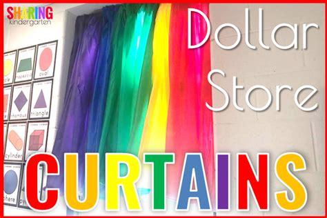 dollar store curtains dollar store curtains sharing kindergarten