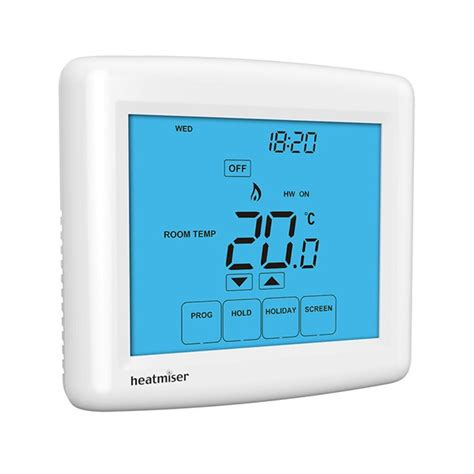 heatmiser prt ts touchscreen programmable central heating thermostat at uk electrical supplies