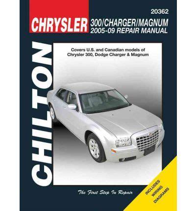 chrysler 300 charger magnum automotive repair manual sagin workshop car manuals repair books