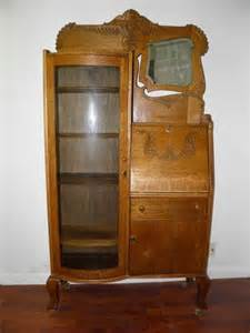 Antique Curio Cabinet With Desk 47 Best Images About Oak On Glass