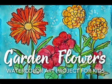 how to garden flowers how to draw garden flowers