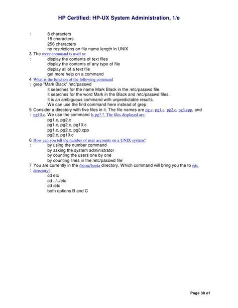 Hp Unix hp unix administration