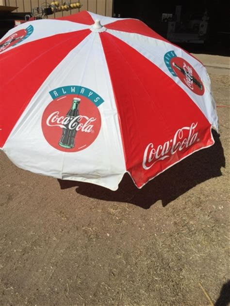 Coca Cola Patio Umbrella Large Coca Cola Umbrella Discoverstuff