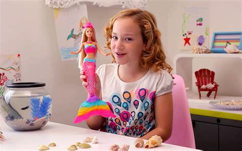 barbie rainbow lights mermaid doll barbie videos watch barbie shows movie trailers music