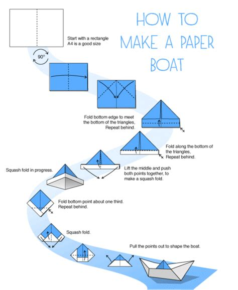 How To Make A Strong Paper Boat - america diy craft idea paper sailboat mobile