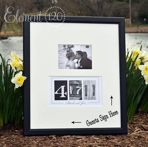 Handmade Guest Book Ideas - custom wedding guest book ideas photo number date frame