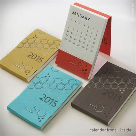 how to make a pocket calendar 26 modern calendars for 2015 design milk