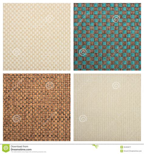 design textile definition set from four textile backgrounds royalty free stock