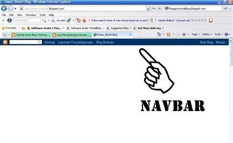 membuat navbar tips cara menyembunyikan navbar blog virgozta