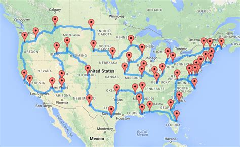 best road maps for usa road trip randy calculated the optimal trip to u s travel map travelquaz
