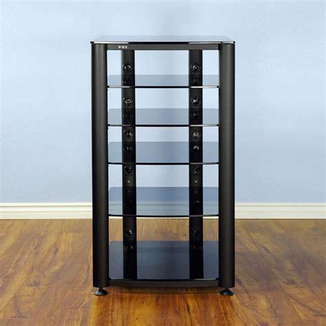 Glass Audio Rack Vti 6 Shelf Audio Video Rack Black Frame With Clear Or