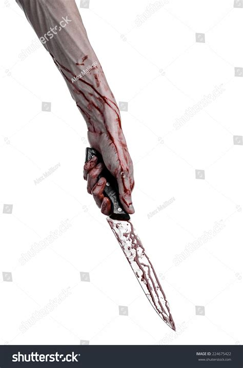 pictures of knives with blood on them bloody holding knife large bloody stock photo