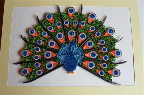 How To Make Paper Quilling Peacock - pin paper quilling peacock on