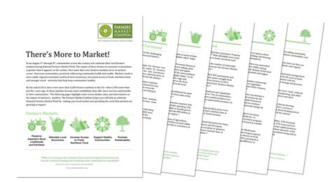 talking points template word national farmers market week farmers market coalition