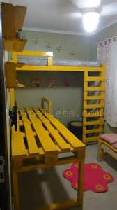 Loft Beds Made Out Of Pallets Room Decor With Pallets 101 Pallets