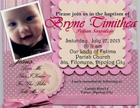 Sample Invitation For 1st Birthday And Christening Images   Invitation Sample And Invitation Design