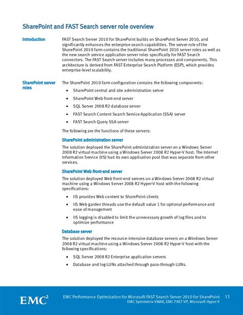 Fast Search White Paper Emc Performance Optimization For Microsoft